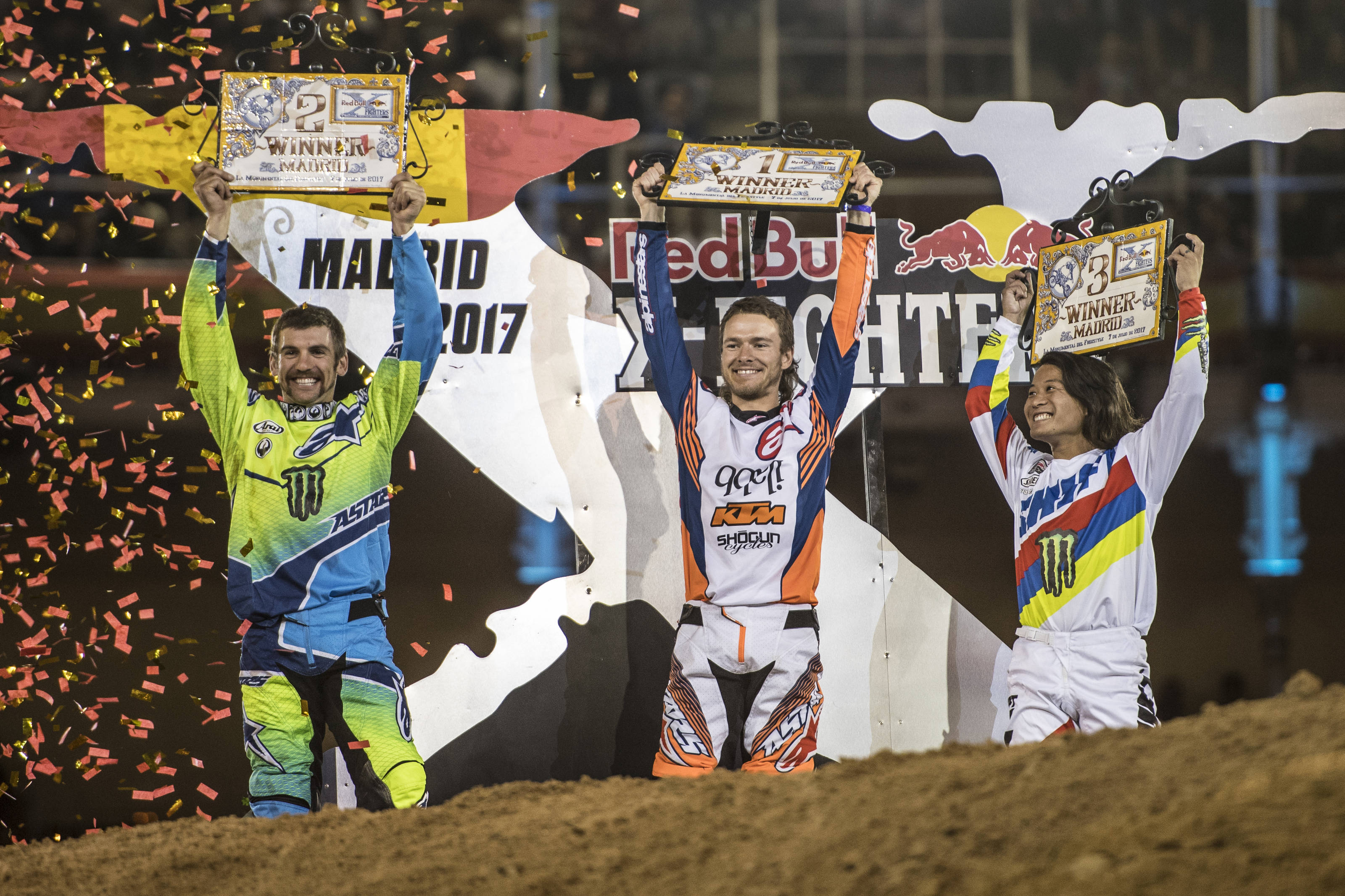 2017 Red Bull X-Fighters Madrid podium