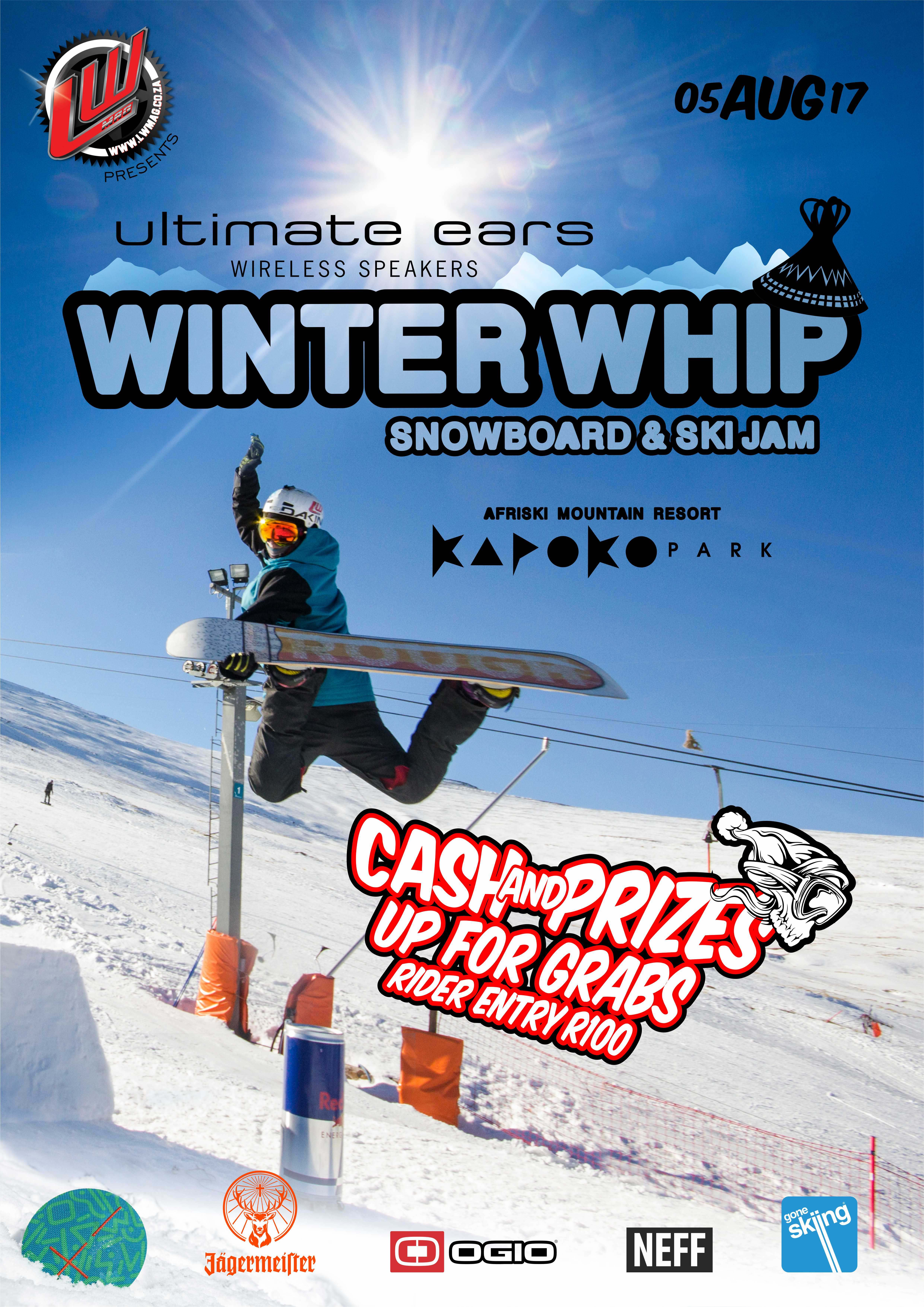 Southern Africa's premier Snowboarding and Skiing Slopestyle competition is back, announcing the 2017 Ultimate Ears Winter Whip taking place at Afriski in Lesotho.