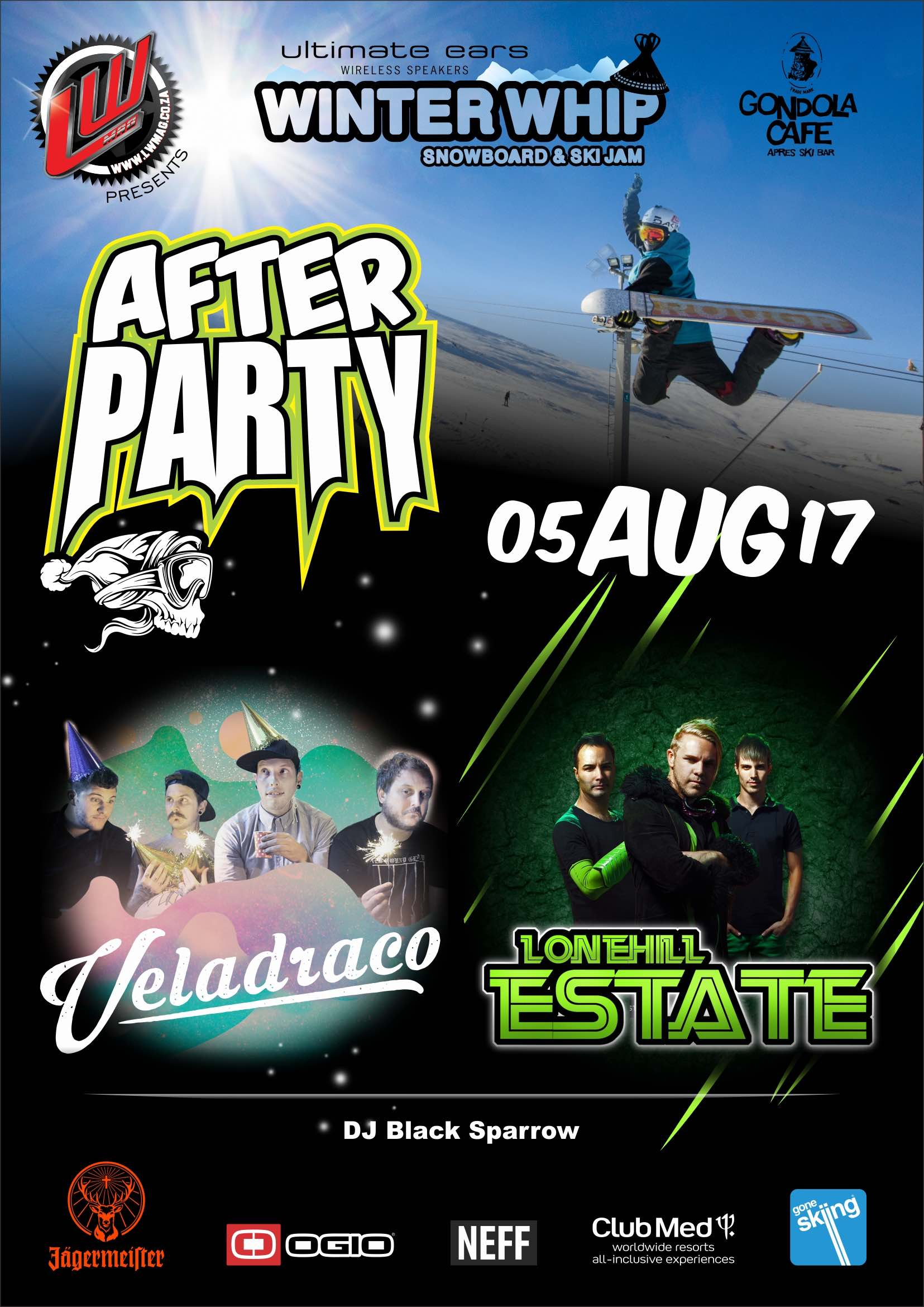 Veledraco and Lonehill Estate to perform at the Ultimate Ears Winter Whip afterparty