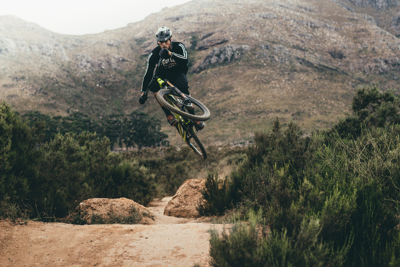 The Zerode Taniwha in action on the MTB trails of Cape Town