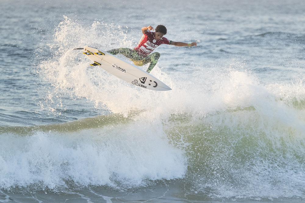 Michael February surfing in the 2017 Ballito Pro
