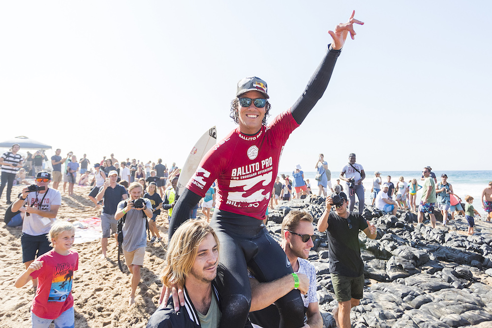 Jordy Smith of South Africa has won The Ballito Pro presented by Billabong for the second time in his career at Willard Beach, Ballito, South Africa. Smith defeated Willian Cardoso of Brazil in the final to claim the illustrious title Ballito Pro Champion and US$40,000 in prizemoney