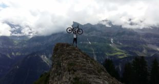 Shane Martin living our his dream of riding Downhill MTB in the Apls