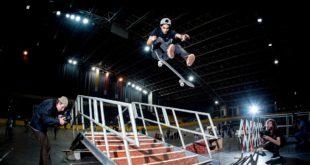 Moses Adams win the Red Bull Unlocked 2017 skateboarding event