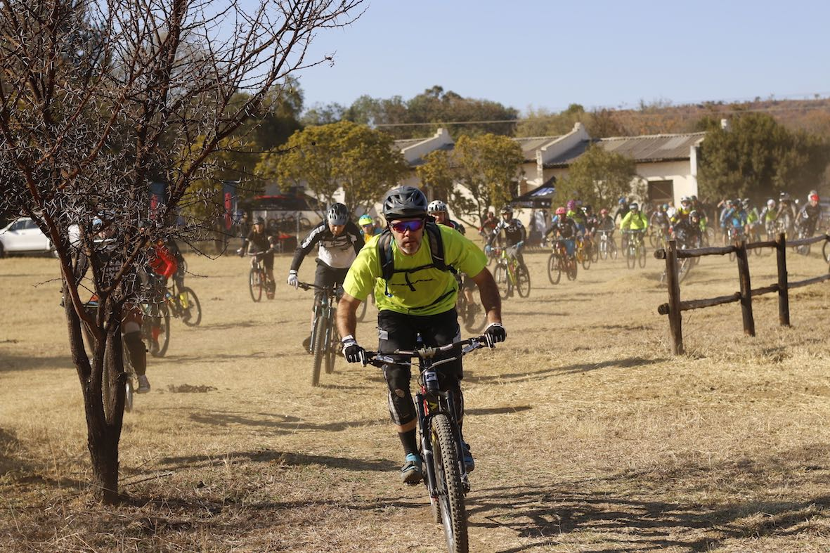 Riders heading our for Round 2 of the the Bike Market Gauteng Enduro MTB series at Hakahana Trails