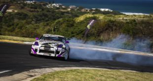 Drifting action from round 5 of the 2017 SupaDrift Series