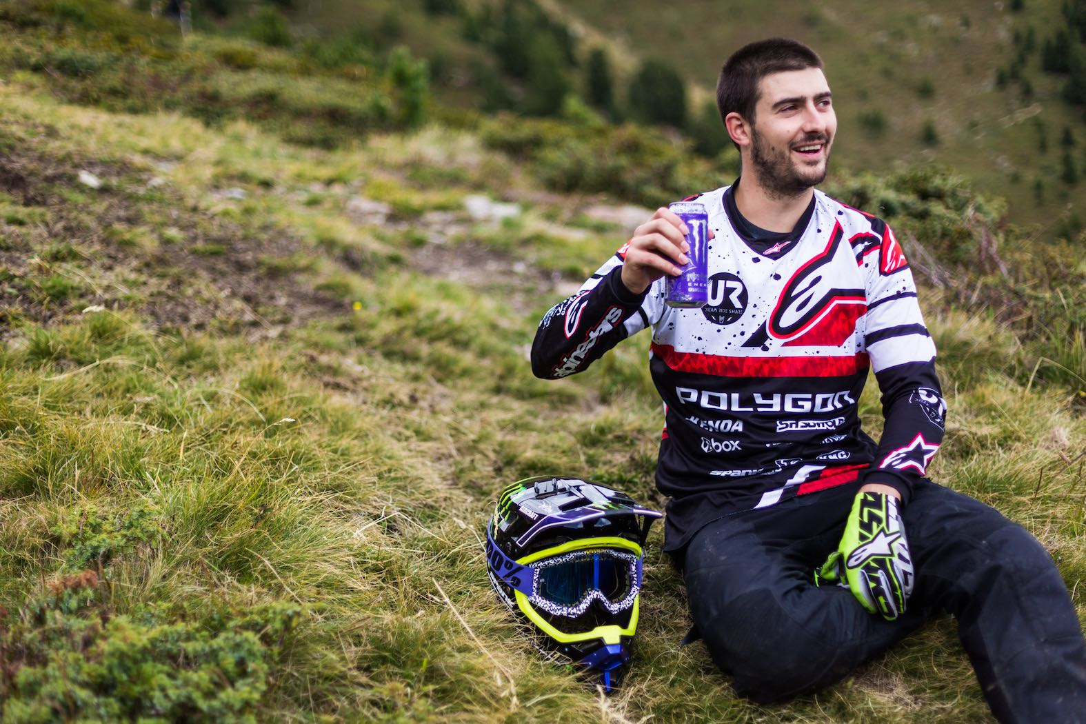 Cheers on the Nine Knights Downhill Bike category win Sam Reynolds