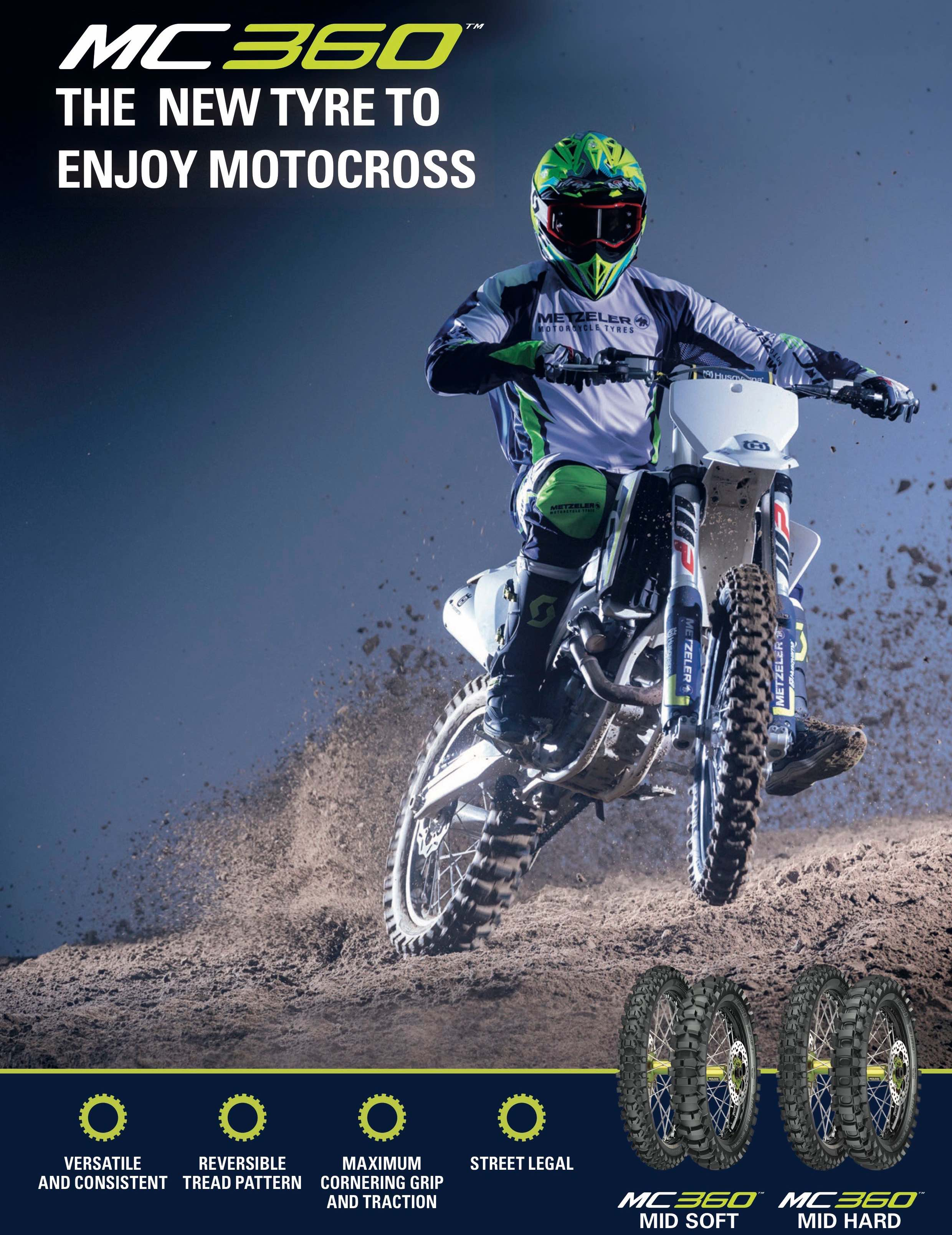 Info on the Metzeler MC360 Motocross Tyres