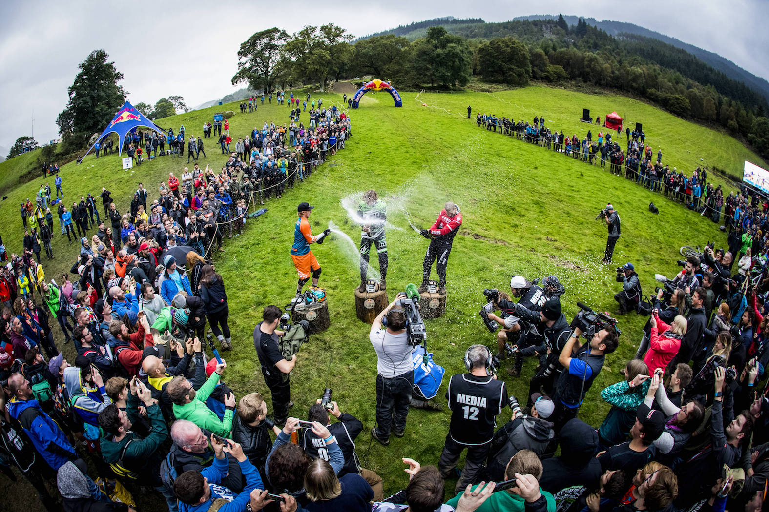 Downhill MTB winners of the 2017 Red Bull Hardline