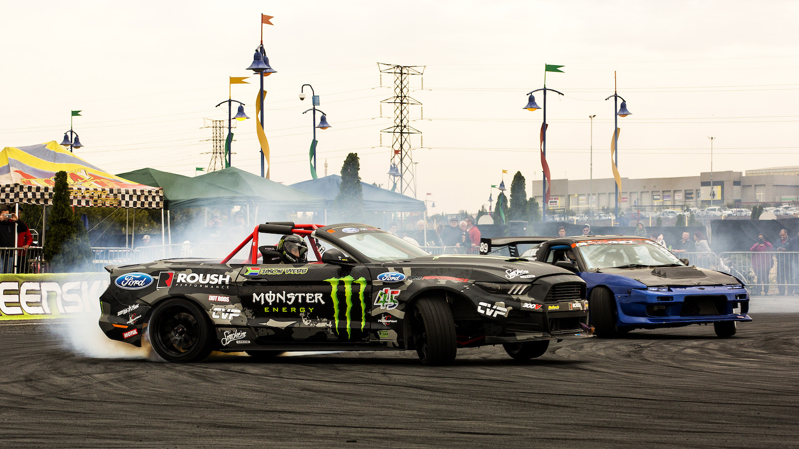 Jason Webb putting his drifting skill to work in the SupaDrift Series