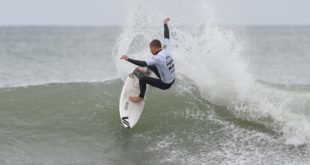 Ford Van Jaarsveld surfing his way to victory in the U18 Boys division at the 2017 Billabong SA Junior Champs