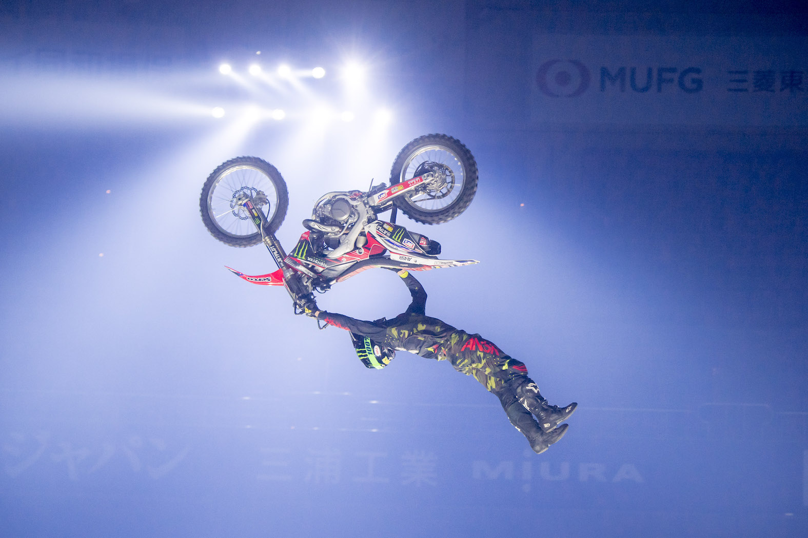 Freestyle Motocross skills with Nitro Circus Live rider Harry Bink