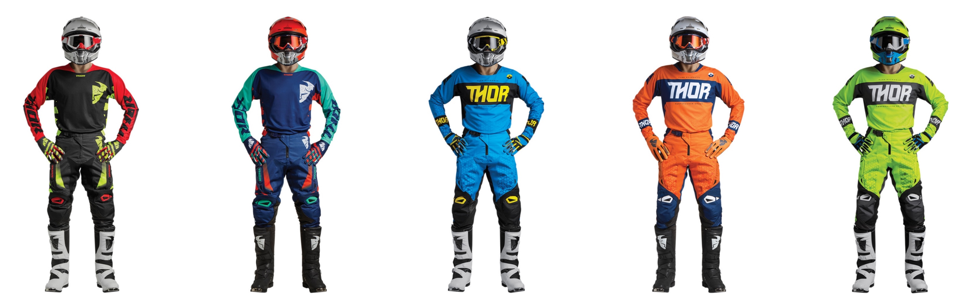 Colour option of the 2018 Thor MX Fuse motocross kit