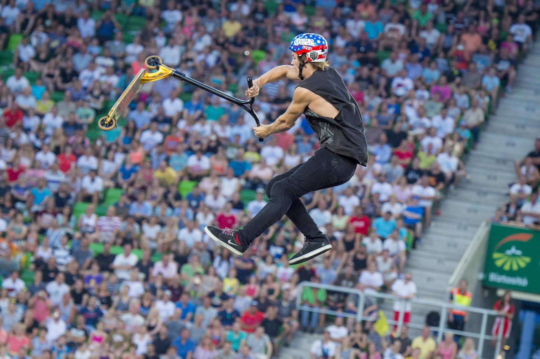 Ryan Williams showcasing his Scooter skills at Nitro Circus Live