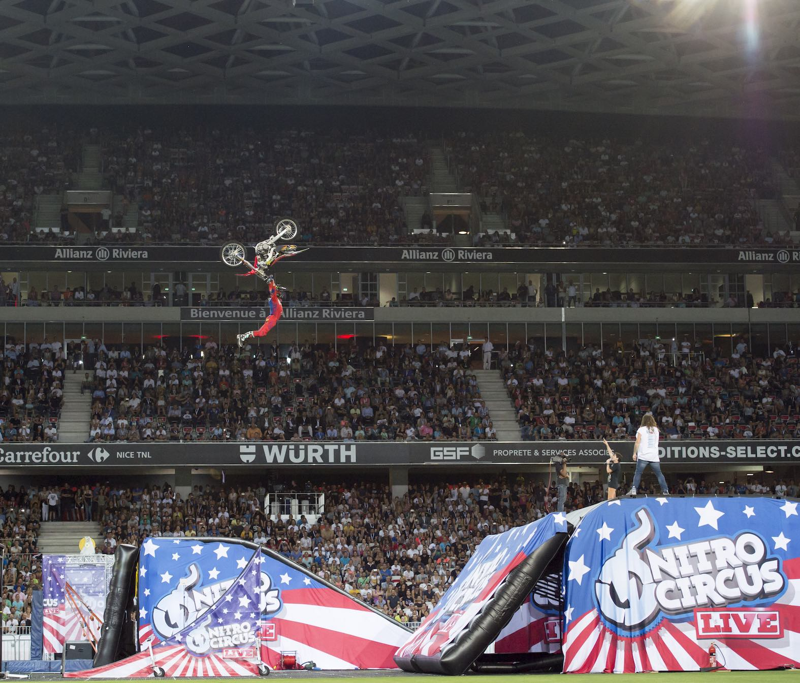 Freestyle Motocross rider Josh Sheehan performing at Nitro Circus Live South Africa
