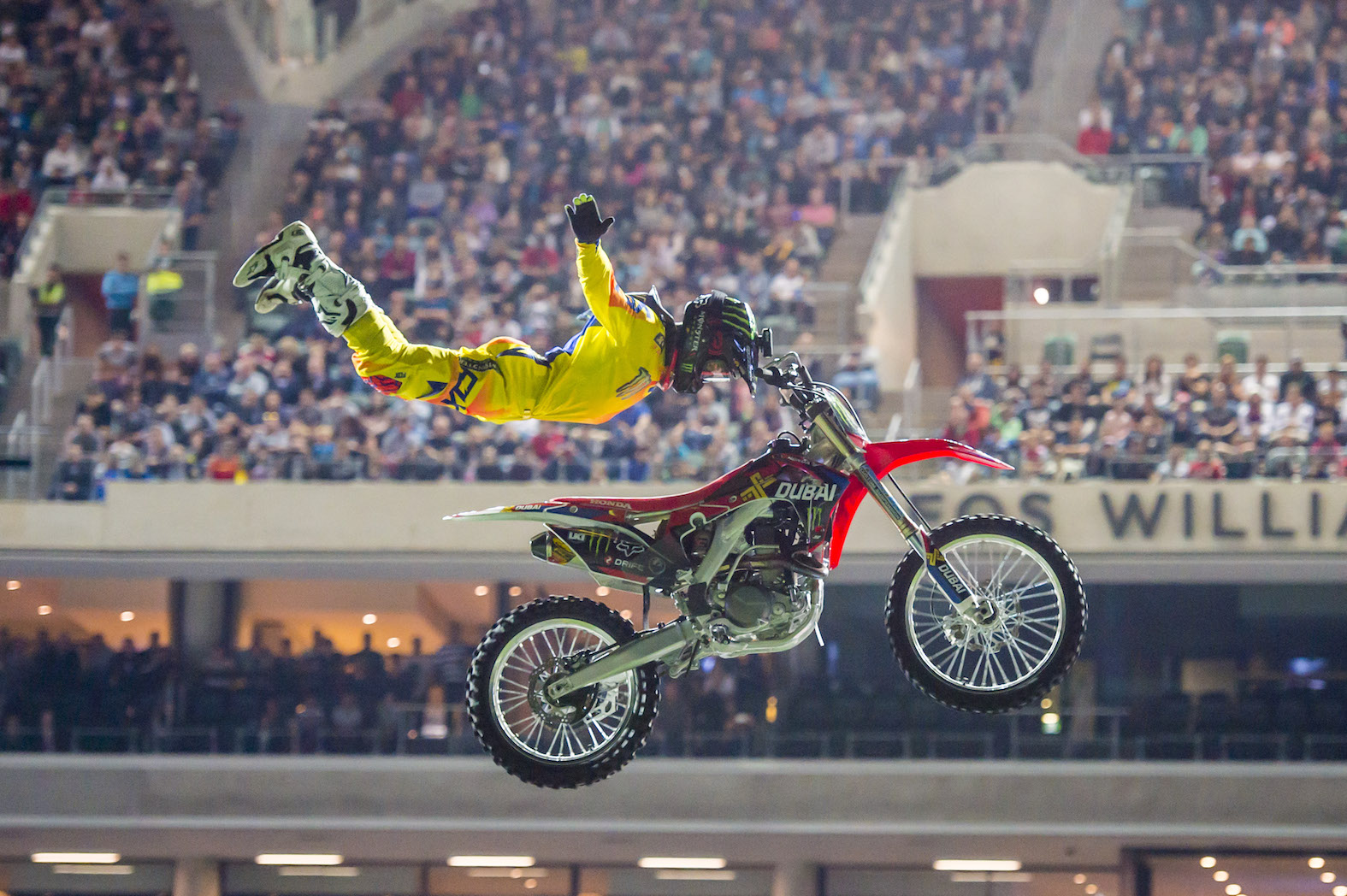 FMX rider Josh Sheehan performing at Nitro Circus Live