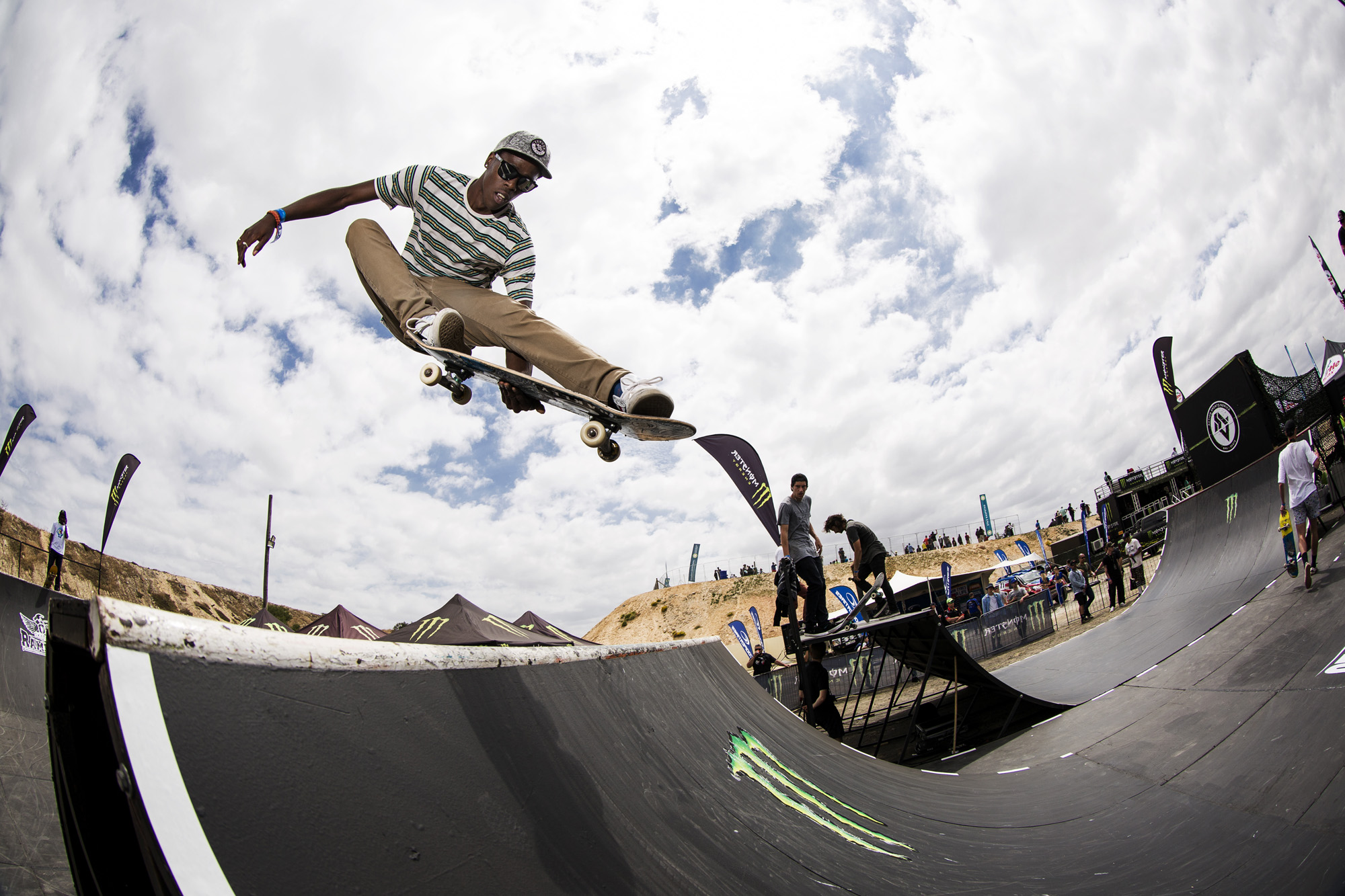 Thalente Biyela skateboarding his way to victory at stop 2 of the Ramp Rodeo