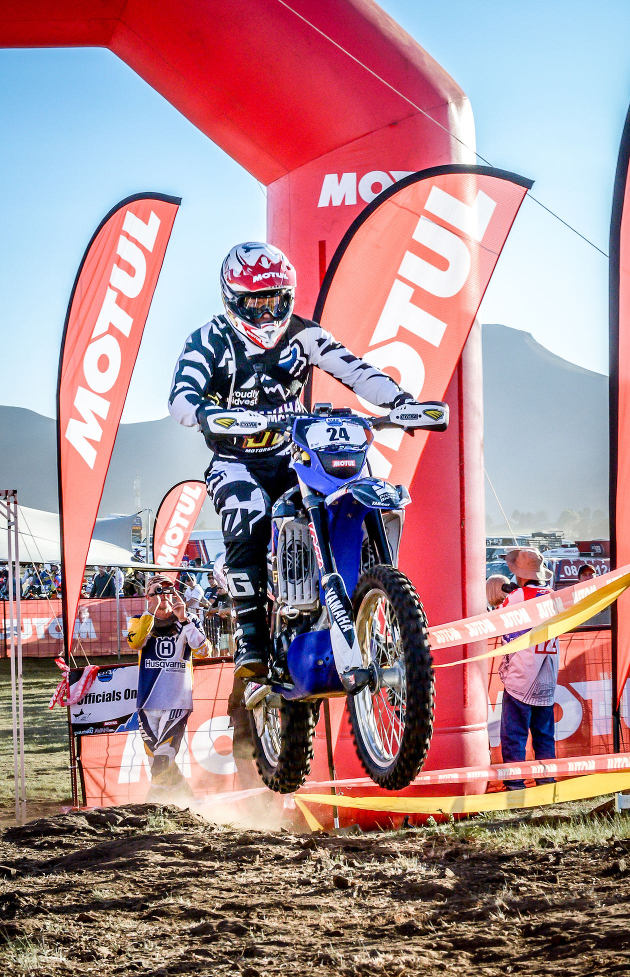 Riders competing in the Motul Roof of Africa Hard Enduro