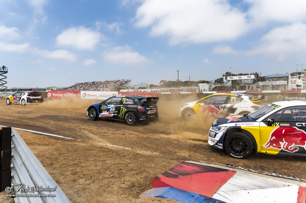 Rallycross action at Kilarney International Raceway