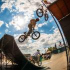 Murray Loubser in the Ramp Rodeo BMX finals