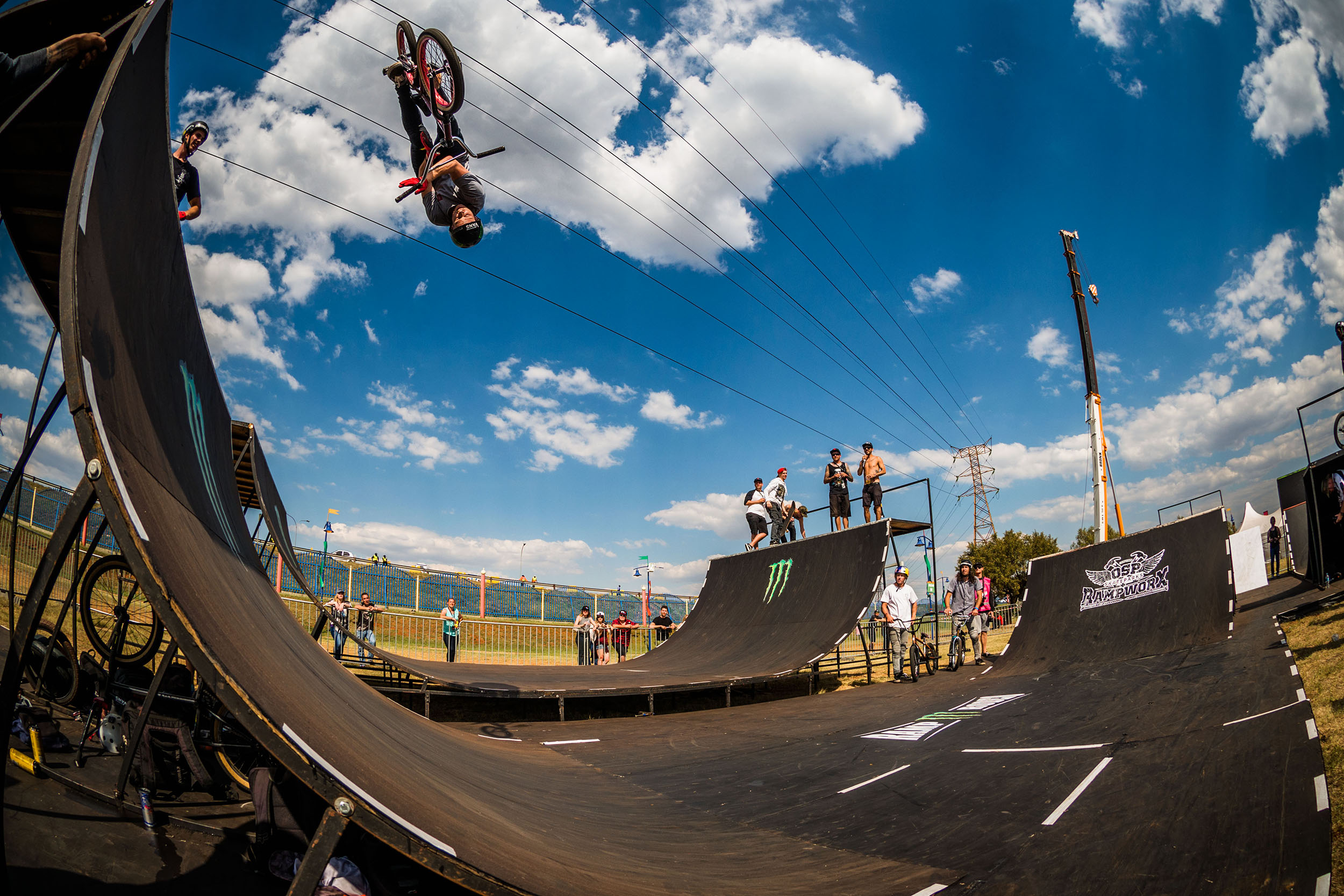 Malcom Peters taking the BMX win at stop 3 of the Ramp Rodeo Invitational