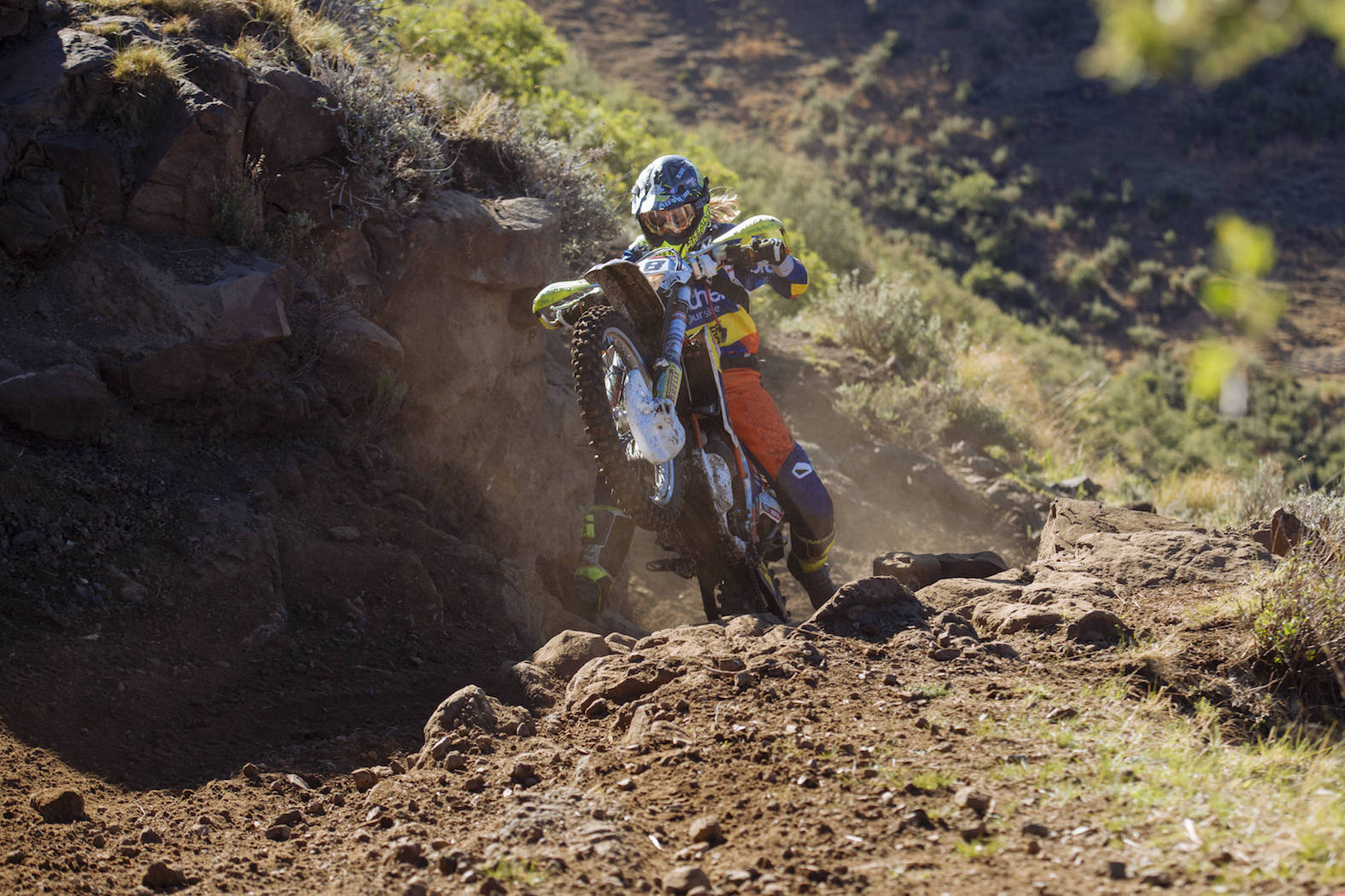 Kirsten Landman competing in the Motul Roof of Africa