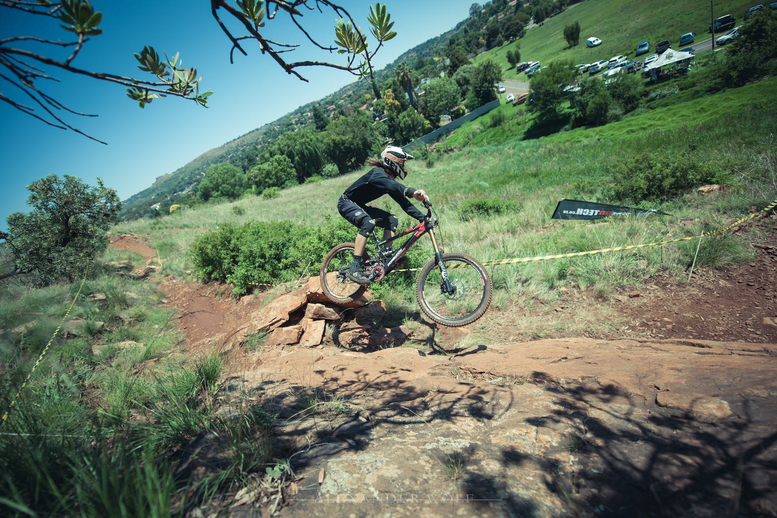 Frank Meyer winning the Downhill MTB at the Dustin Rudman Invitation 3
