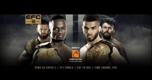 EFC 66 brining 14 exciting MMA fights to Time Square Pretoria