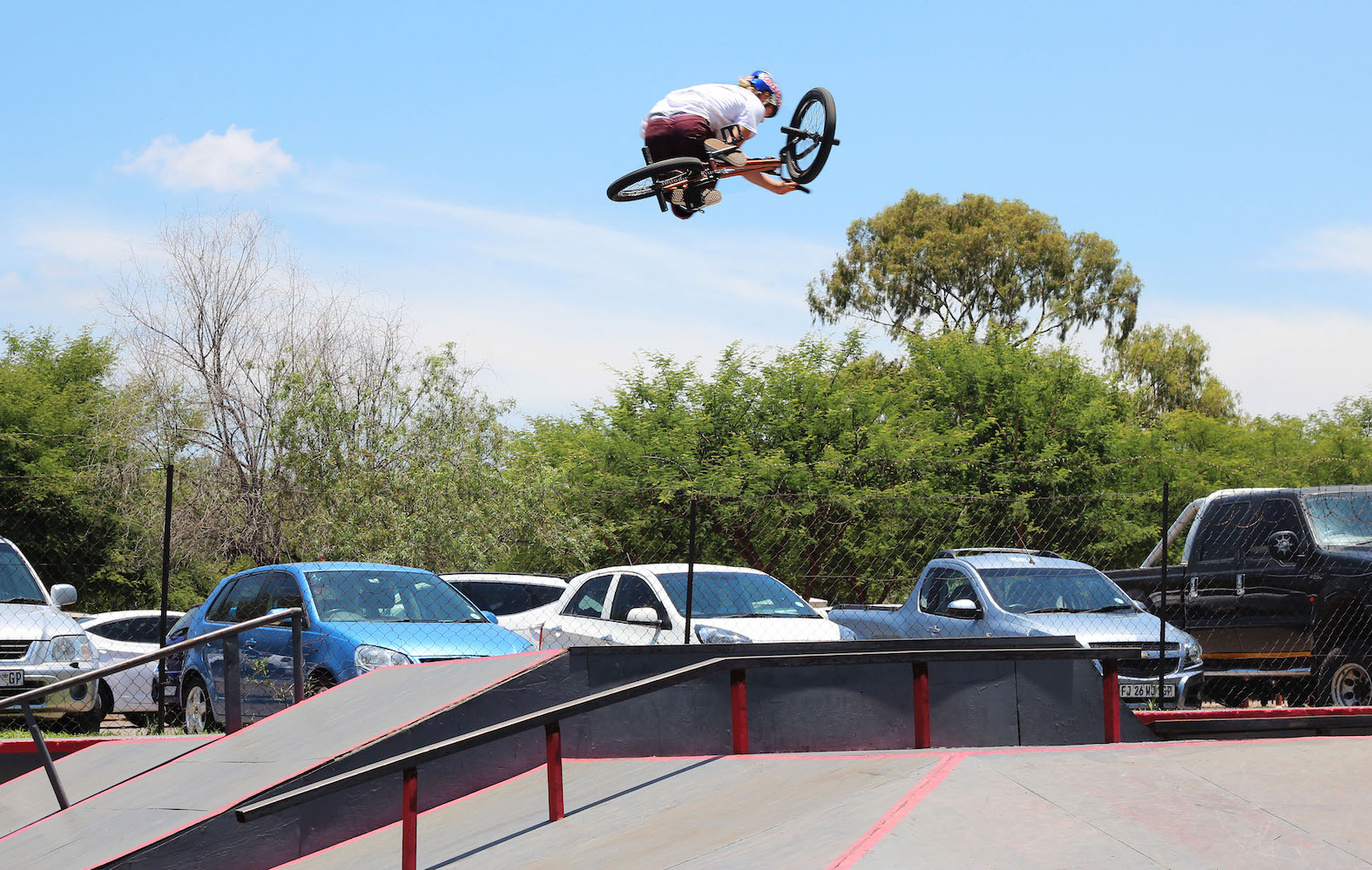 Murray Loubser 36o Table at the Evals BMX Jam 2017