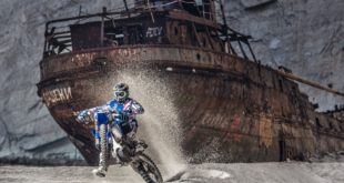 This is what happens when you take one of the best motocross riders in the world to one of the most mysterious and famous beaches - shipwrecks.
