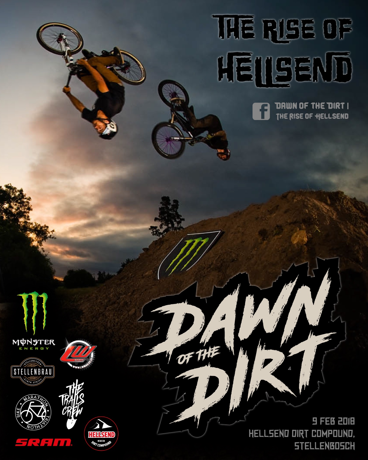 Details for the Dawn of the Dirt MTB and BMX Dirt Jump Jam - The Rise of Hellsend