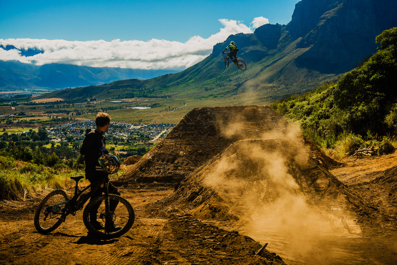Testing the massive jump on the new DarkFEST 2018 line in Stellenbosch