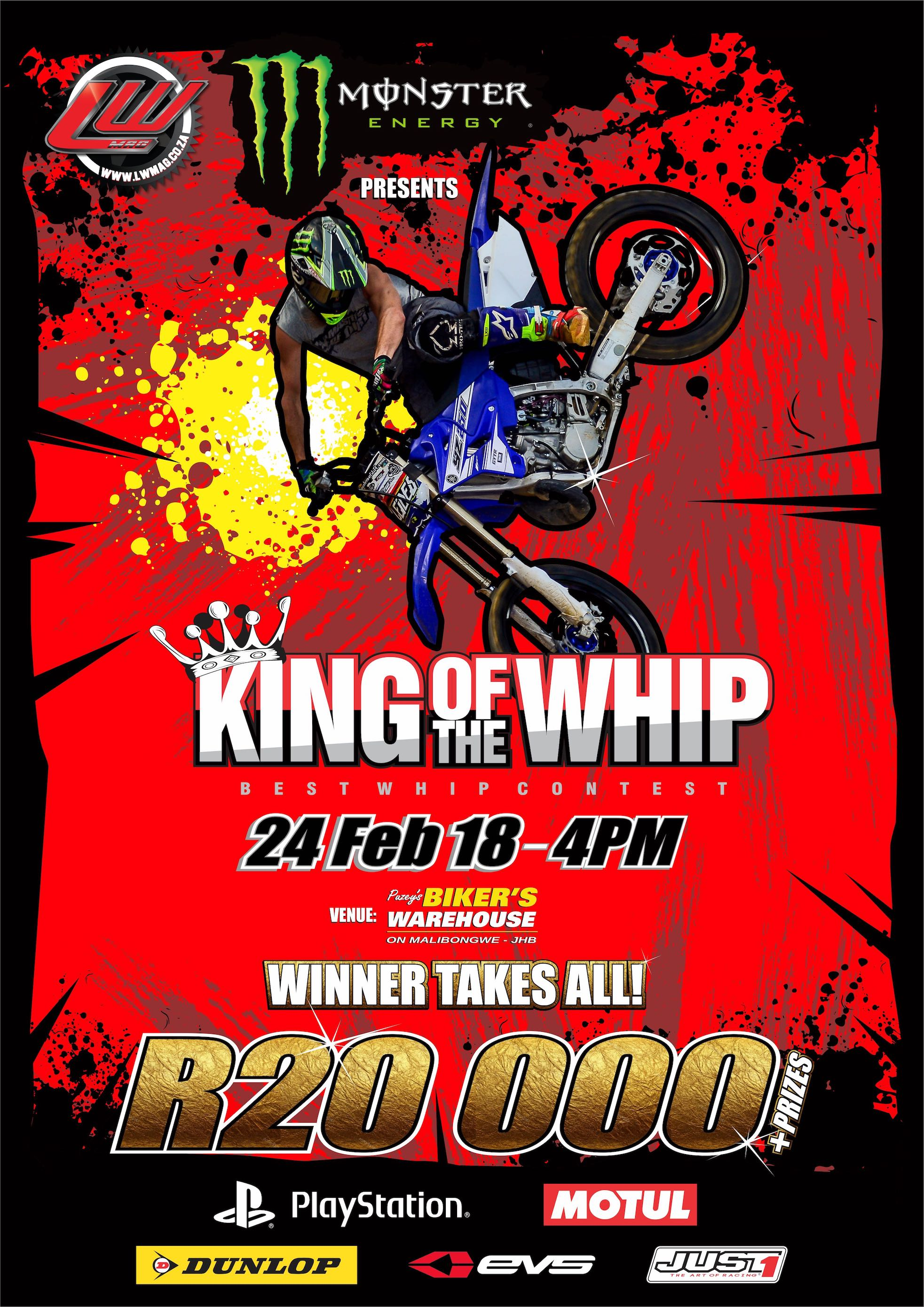 Details from the 2018 King of the Whip motocross and freestyle motocross best whip contest