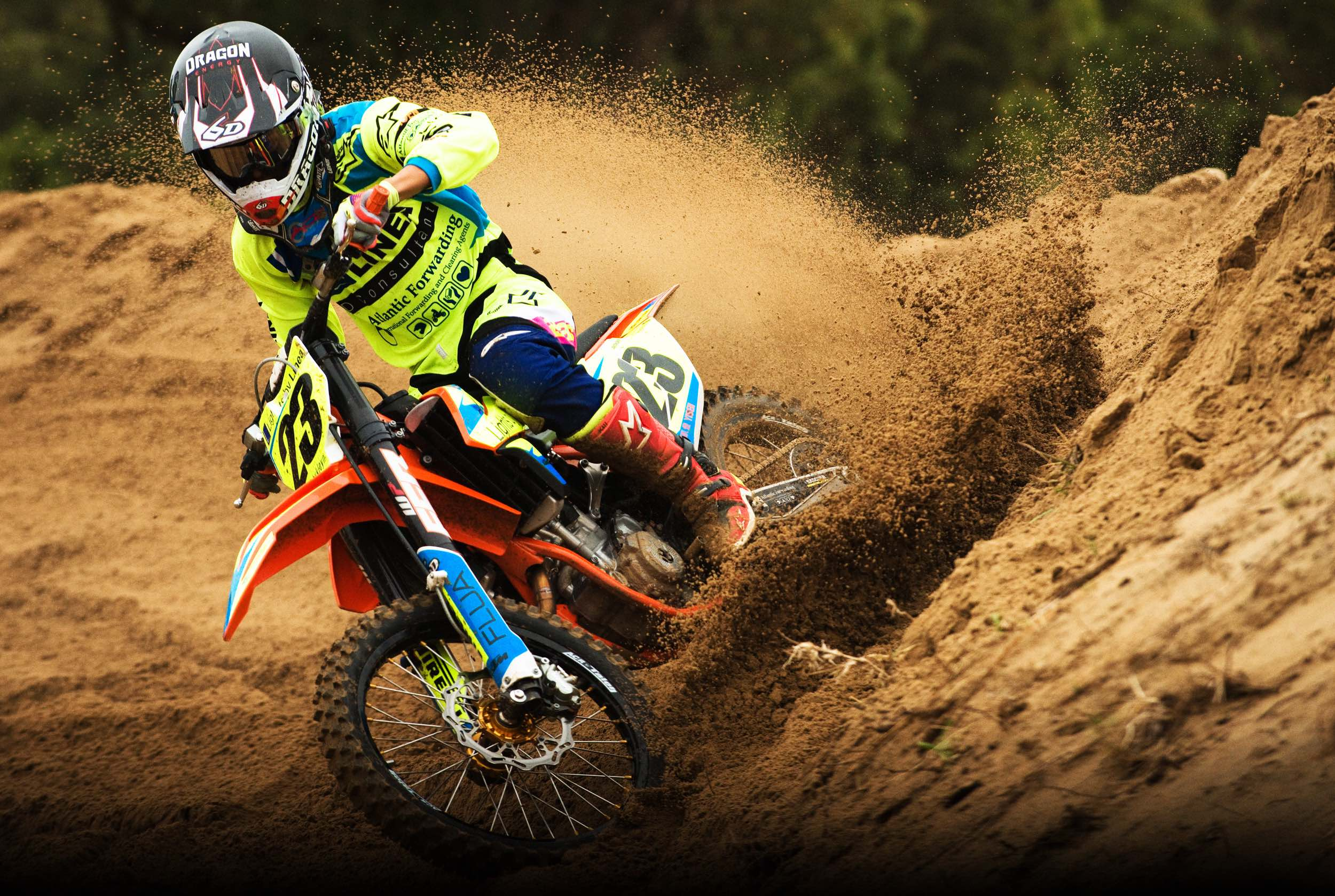 Anthony Raynard winning the MX2 class at round 1 of the 2018 MX Nationals