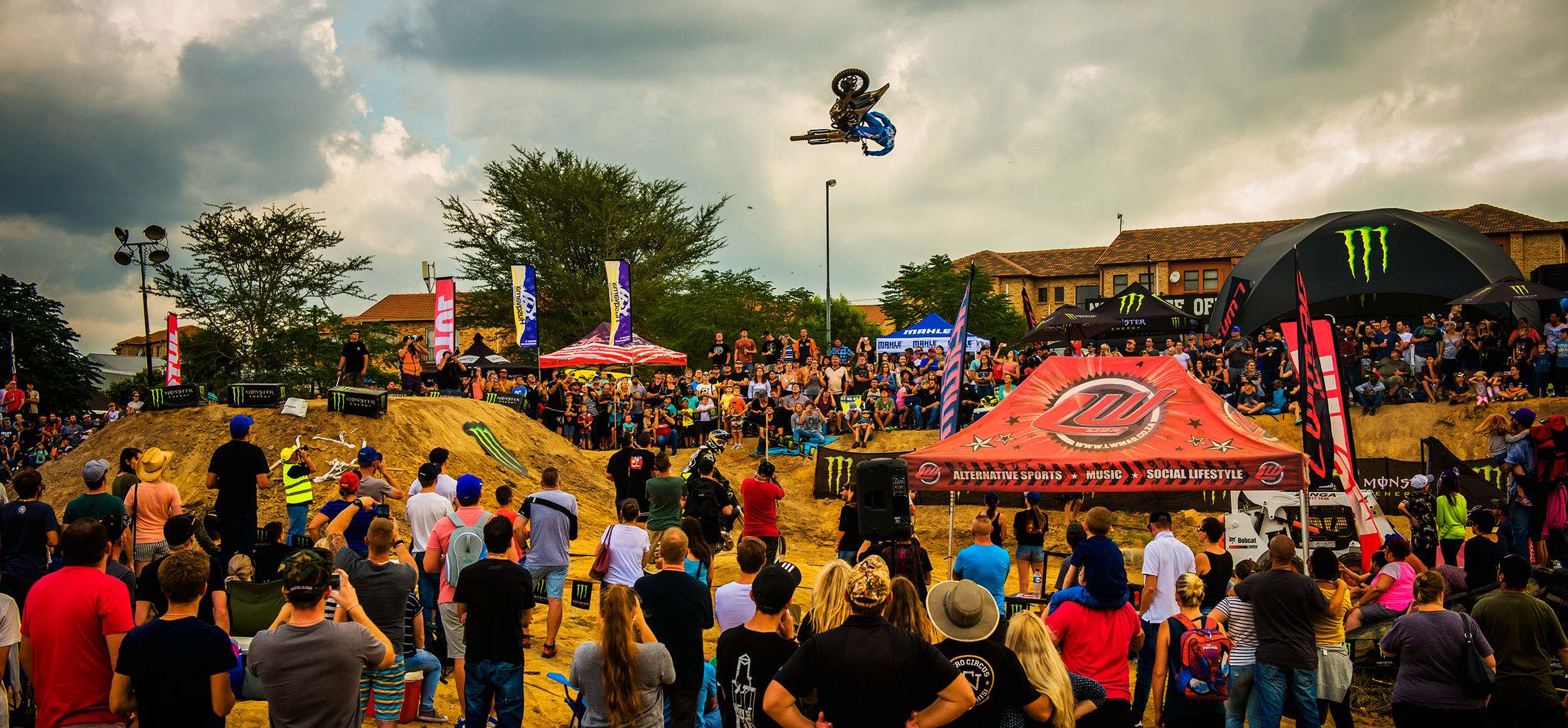 Motocross rider Caleb Tennant competing in the 2018 King of the Whip Bets Whip contest