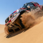 #XtremeDuneville Dragon Energy Drink rally car in the Namibia Desert