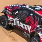 The Dragon Energy T1 Nissan Navara in the Namibian Desert for #XtremeDuneville