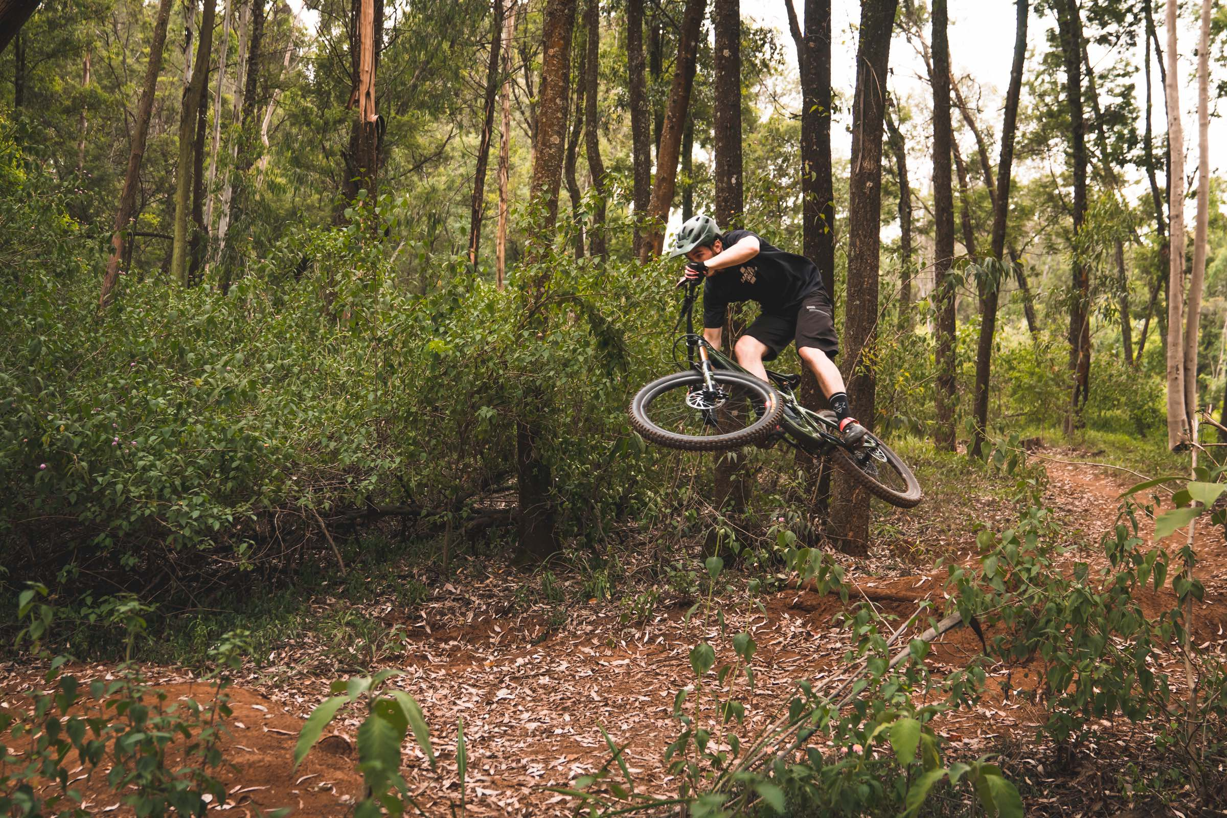 Sam Bull riding his 2018 Santa Cruz Bronson Enduro MTB