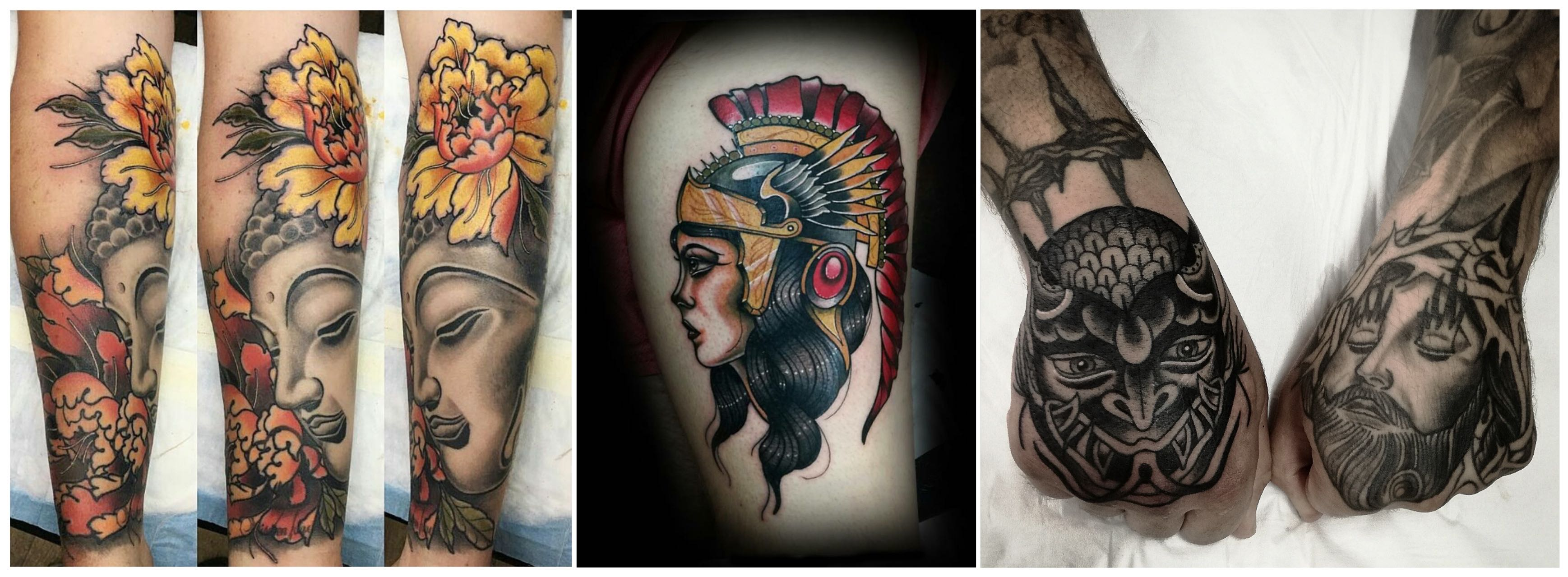 A selection of tattoos by artist Phillip Wells