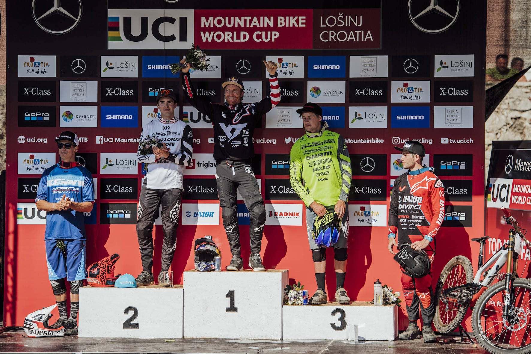 2018 Downhill MTB World Cup Losinj Men's Podium