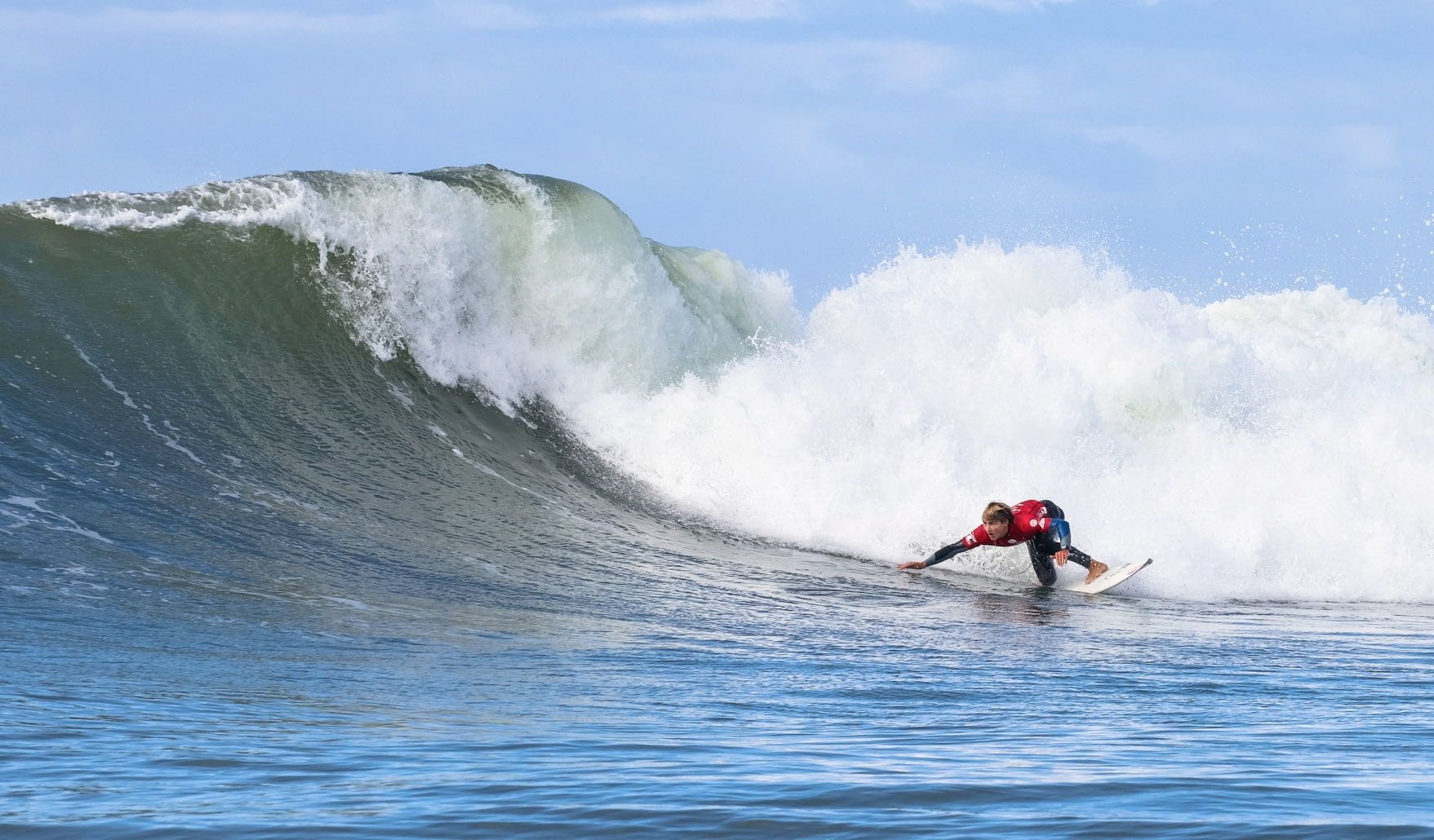 Matt McGillivray surfing in the Mitchum Buffalo City Surf Pro