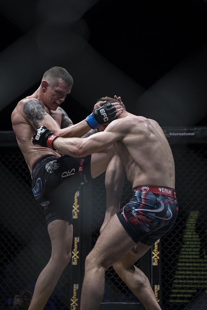 Martin van Staden claims the EFC Lightweight Title
