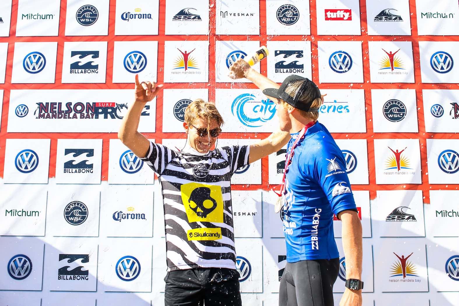 Volkswagen Nelson Mandela Bay Surf Pro Mens Final podium