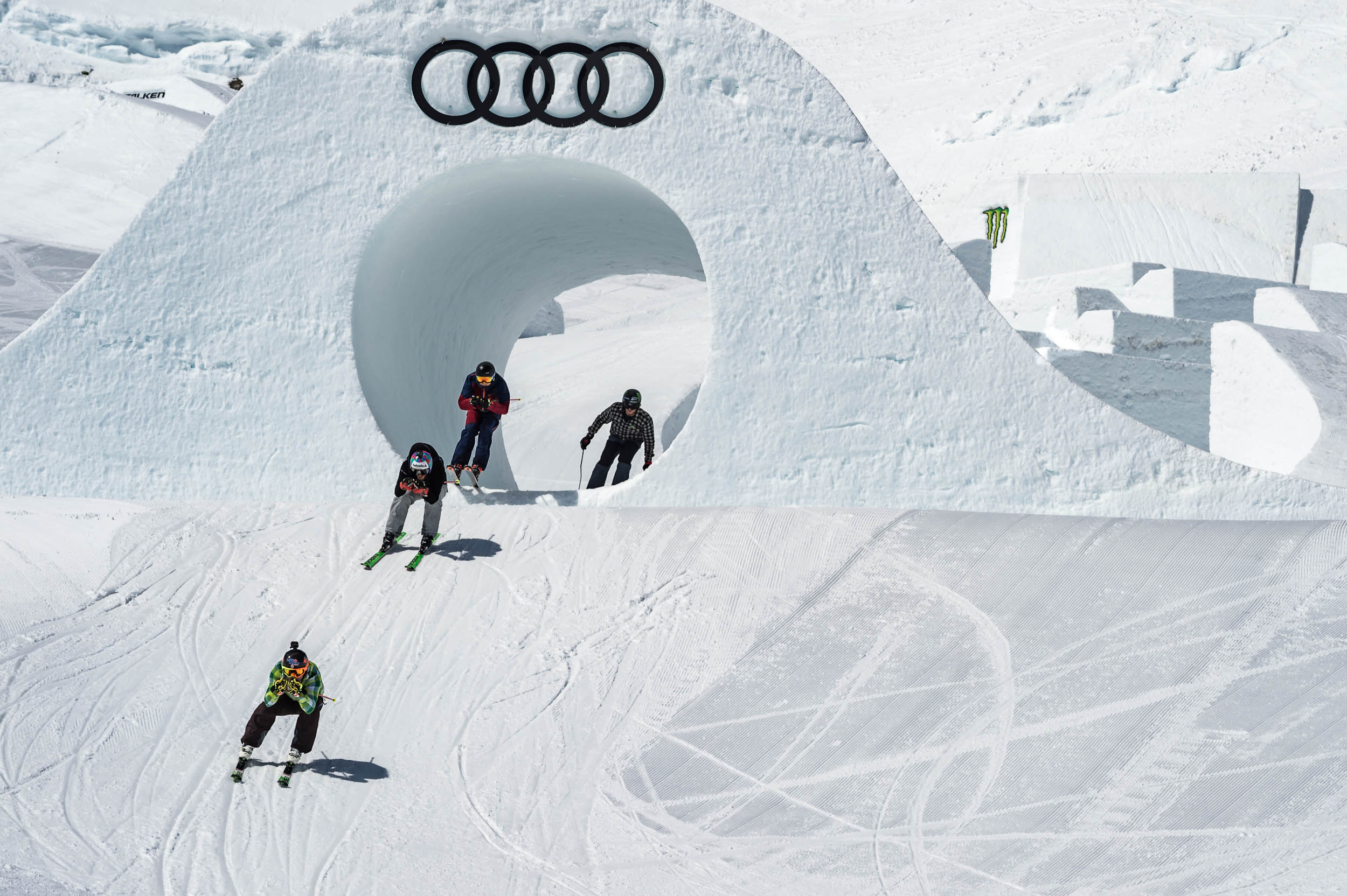 Brady Leman winning the Skier SlopeX finals at The Audi Nines