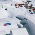 Hailey Langland winning the Women's Snowboard Big Air at the 2018 Audi Nines