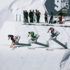 The Hammer Drop Start gate at the 2018 Audi Nines snowboard and Ski event
