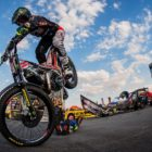 Le Riche brother putting on their Trial Bike performance at Kyalami
