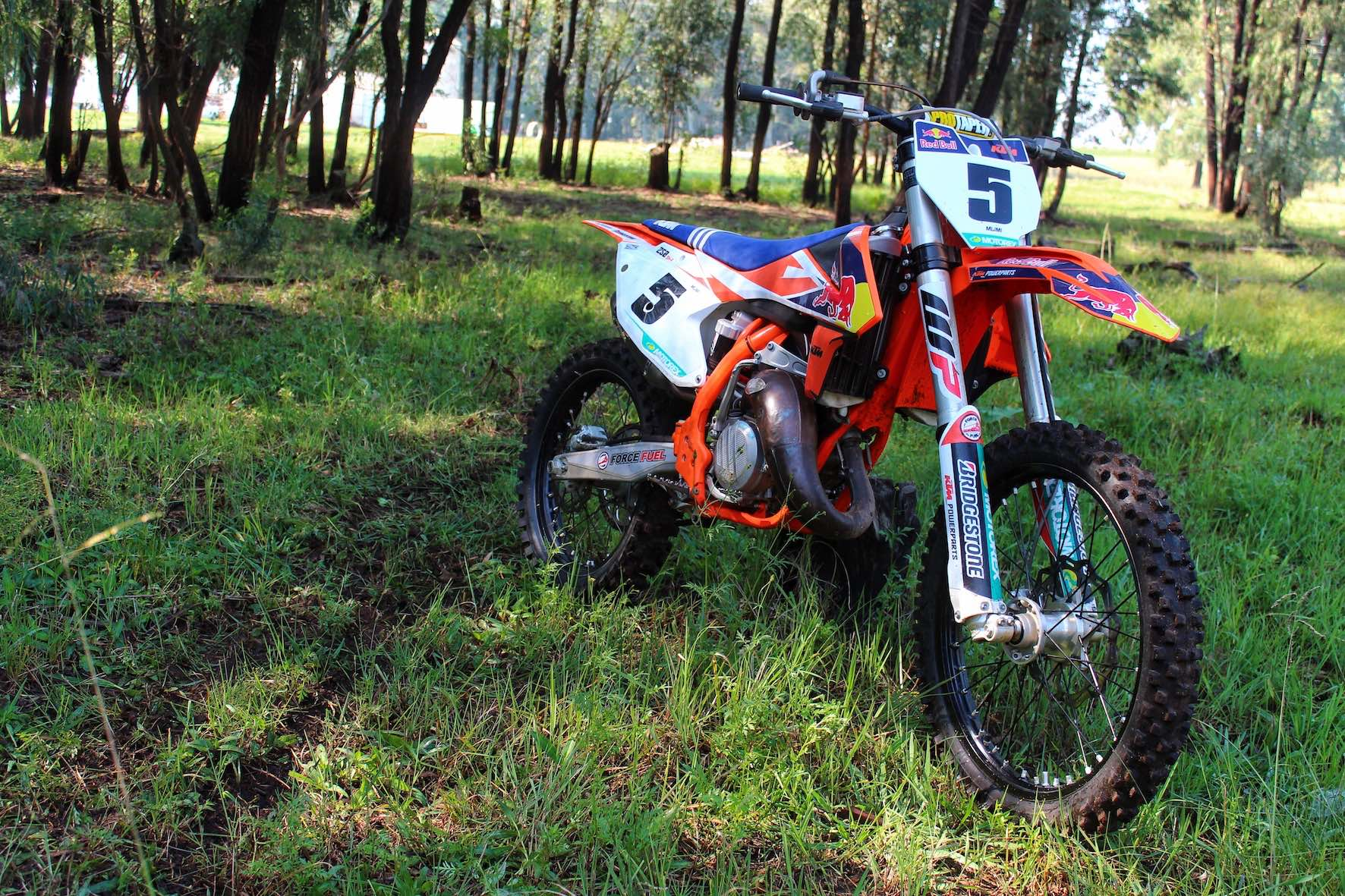 The KTM 125 SX motocross machine