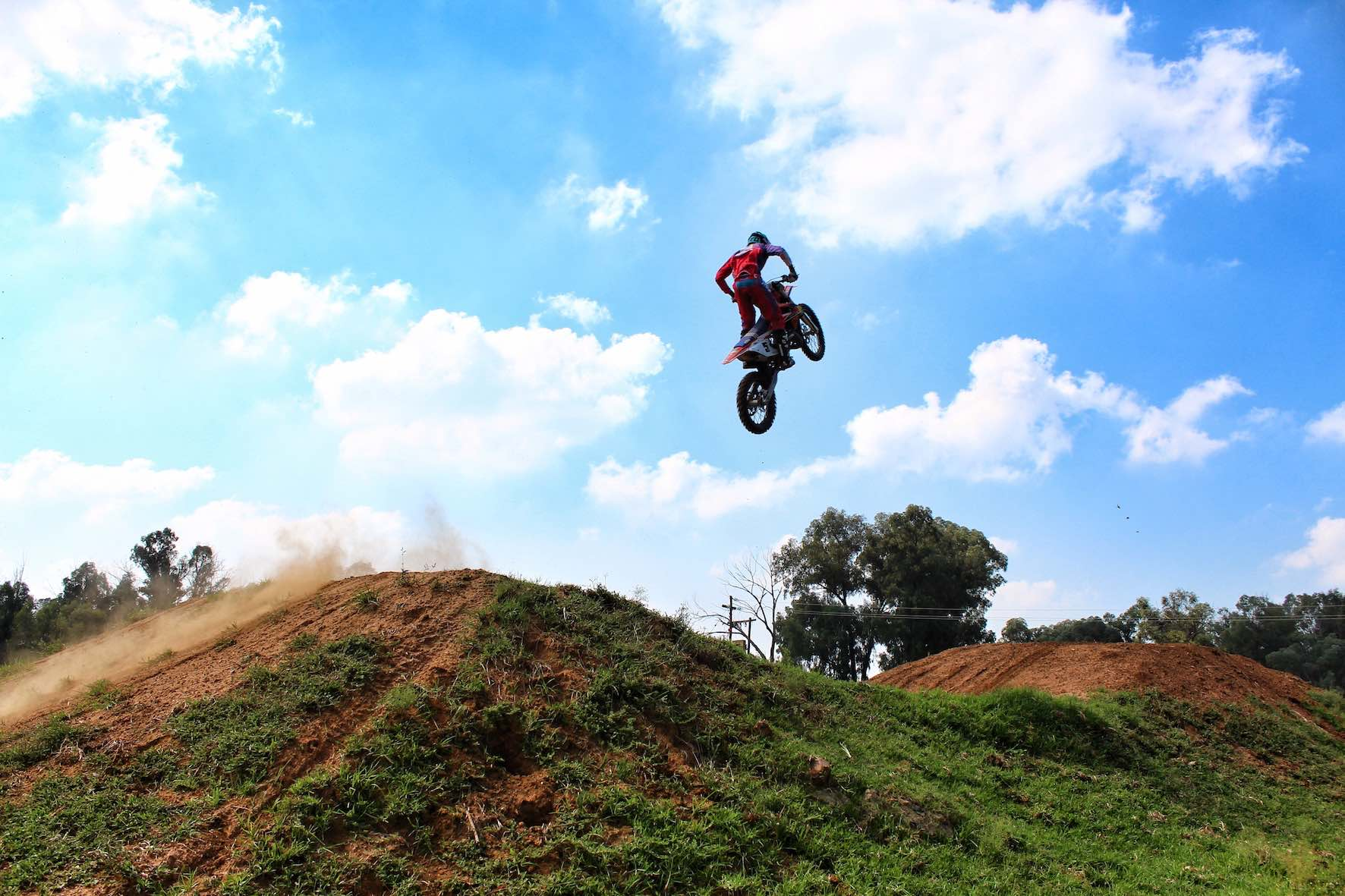 Joshua Mlimi riding the KTM 125cc motocross bike