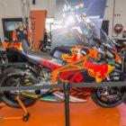 Brad Binder's Moto2 machine on show at the SA Bike Fest